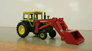 Details about 1/64 ERTL custom John deere 4020 tractor with red westendorf  loader farm toy