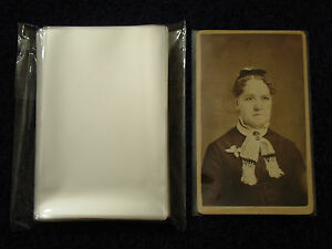 100-CDV-Carte-De-Visite-Photo-SLEEVES-Pack-Lot-ARCHIVAL-SAFE-Quality-1-5mil-Poly