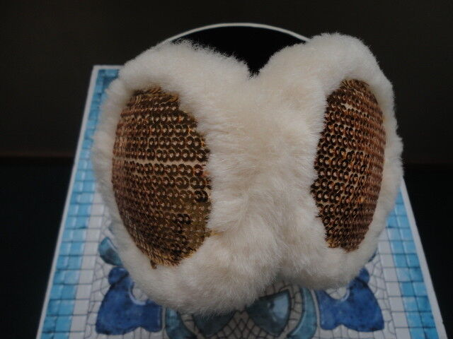UGG  Ear Muffs   Chestnut with Gold Sequins - image 4