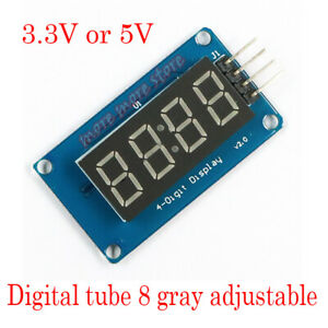 Details about 4 Bits TM1637 Digital Tube LED Clock Display Module For  Arduino UNO R3 Due 2560