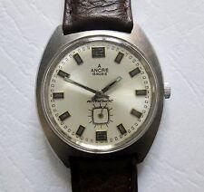 Ancre Cupillard Rare Vintage Mechanical Hand Winding Men's Watch Stainless Steel