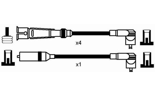 NGK Juego de cables encendido SEAT IBIZA 0937