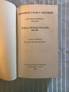1957-DINWIDDIE-FAMILY-RECORDS-WILLIAM-WALTHALL-1804-1882-VIRGINIA-GENEALOGY
