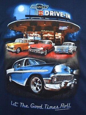 100/% Cotton Preshrunk 56 Chevrolet T-shirts Warped Heads