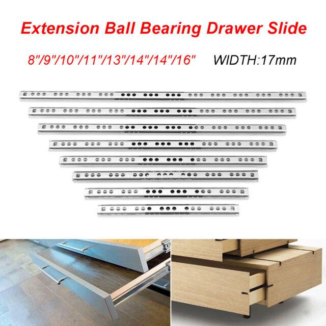 Drawer Slide Heavy Duty 20 Inch 250 Lb Cap Full Extension Ball Bearings One Pair