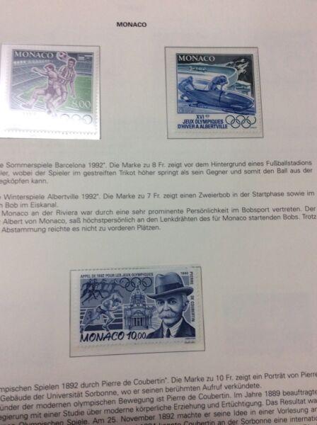 Constructif Barcelone Jeux Olympiques 1992: Massive Vente Monaco + San Marino Produits Vente Chaude