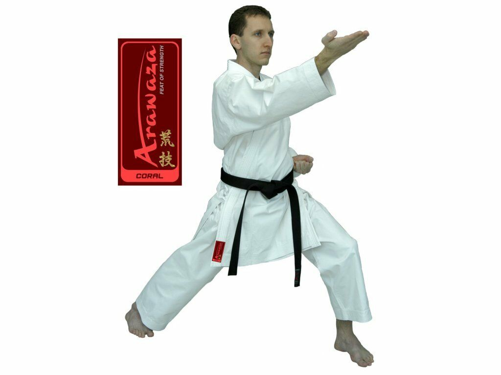 BRAND NEW ARAWAZA CORAL KARATE SUIT GI 10oz NON WKF Size 165 205 210 & 215