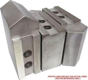 "Kitagawa,Samchully KT-12258-38F Steel Soft Jaws For a 12/"" Chuck ht=2.5/""-3pc set"