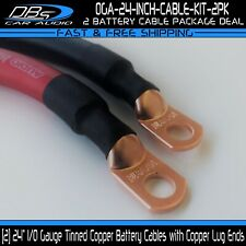 """Truck RV 4 Gauge AWG Copper Battery Cable Custom Made 15/"""" Cable Solar Car"""