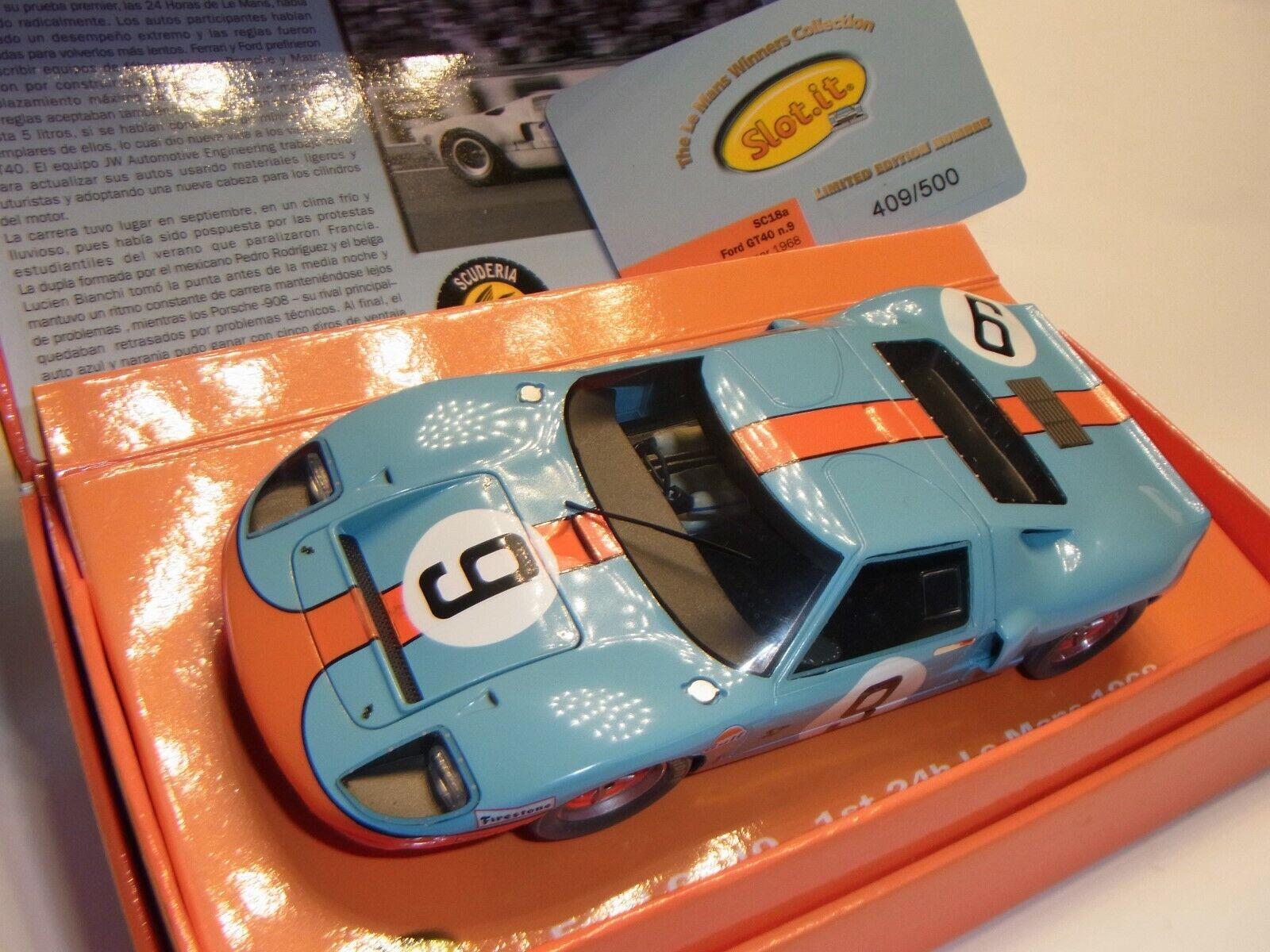 SMasse  Ford GT40 Le Mans 1968  9 Sonderotition für Autorennbahn 1 32 SMassecar