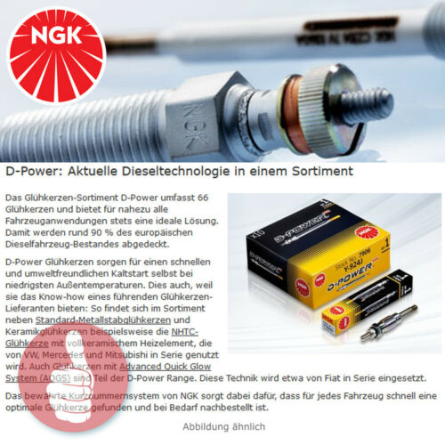 4 x original NGK Bougies De Préchauffage D-Power 48 ye14