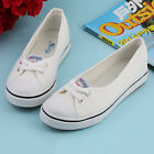 Women Casual Canvas Work Flats Loafers Slip On Soft Fashion Boat Shoes IB