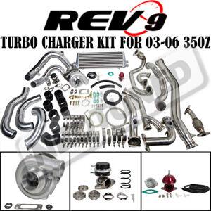 Details about REV9 COMPLETE BOLT ON T3 60-1 TURBO CHARGER KIT FITS 03-06  350Z Z33/G35 VQ35DE