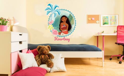 Princess Moana Young Girls Decoration Wall Decal