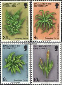 GB-Guernsey-114-117-kompl-Ausg-postfrisch-1975-Farne