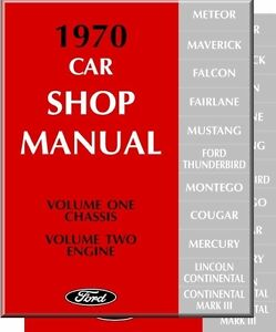 1970 mustang gt mach 1 fairlane shop manual ebay rh ebay com 2010 Ford Mustang Service Manual Ford Mustang Manual Transmission