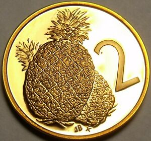 Cook-Islands-2-Cents-1981-Proof-9-205-Minted-Wedding-Of-Lady-Di-Pineapple-Fr-Sh