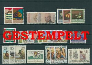 Liechtenstein-Vintage-Yearset-1990-Timbres-Used-Complet-Plus-Sh-Boutique