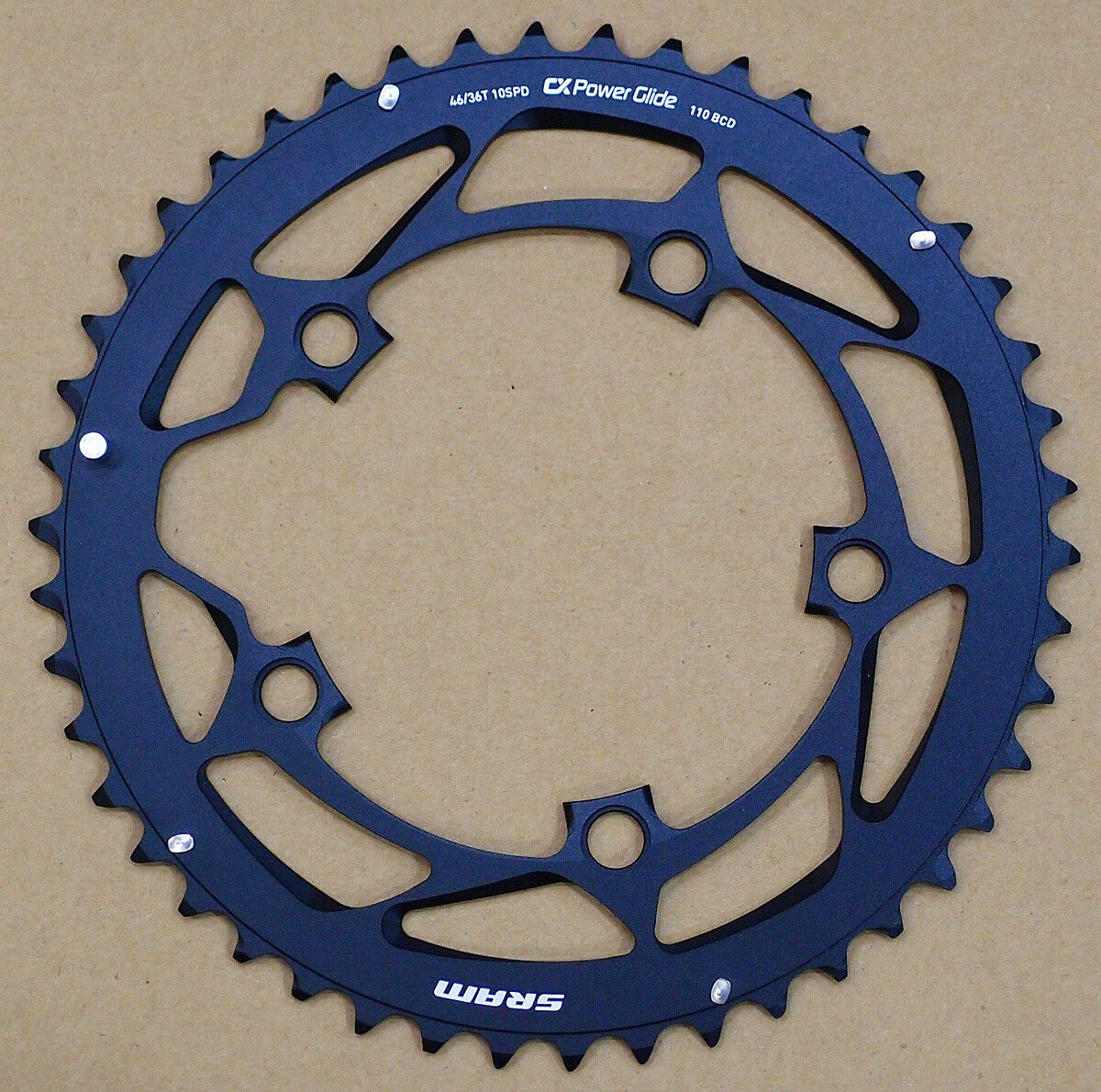 Sram Truvativ CX Powerglide ciclocross PLATO 46T, BCD 110mm, L-Pin para GXP
