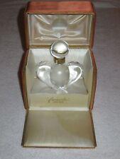 Vintage Nina Ricci Farouche Lalique Crystal Perfume Bottle/Box 1 OZ - Empty