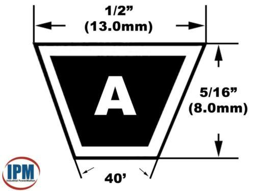 """A38 V-Belt MEGADYNE JASON  A38 Belt 4L400 UniMatch Multi-Plus 1//2/"""" Wide 40/"""" Long"""
