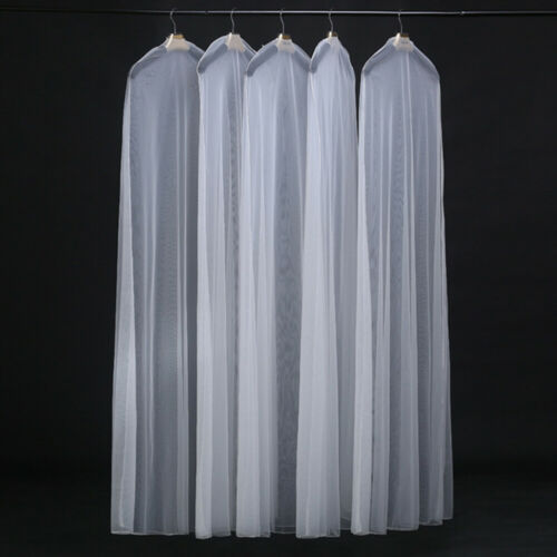 AM/_ Extra Large Clear Wedding Dress Bridal Gown Garment Breathable Cover Storage