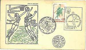 BASKETBALL-FDC-COVER-BRAZIL-1957