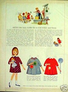 1965 Betsy Mccall Girls Paper Dolls Country Auction Ebay