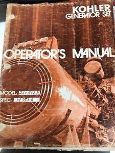Details about Kohler 260KW Manual Several manuals in one! Wiring diagram, on kohler valve, kohler compressor, kohler ignition wiring,