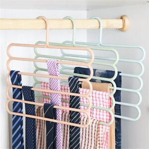 Pants-Trousers-Hanger-Tie-Scarf-Belt-Towel-Non-slip-Hanger-Storage-Rack-PB
