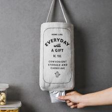 Home Grocery Garbage Bag Holder Dispenser Wall Hanging Kitchen Trash Organizer