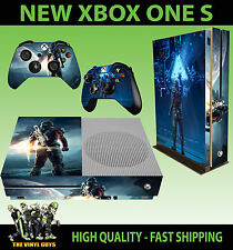 XBOX ONE S SLIM Console Sticker MASS EFFECT ANDROMEDA RYDER SKIN & 2 PAD SKINS