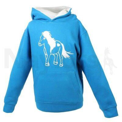 Kids Purple or Blue Horse Riding /'Horses Leave Hoofprints On Your Heart/' T-shirt