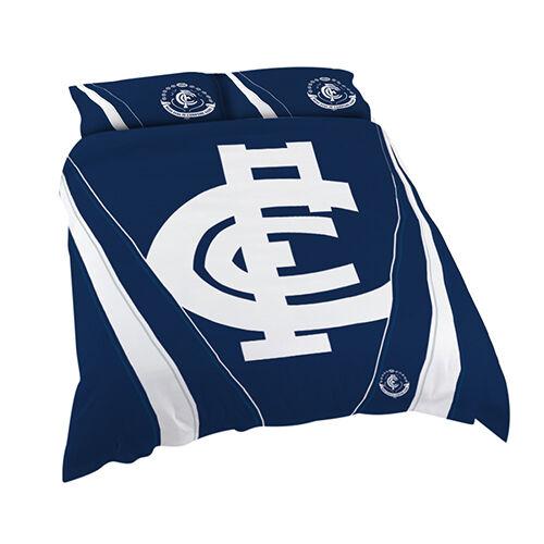 Carlton Blues AFL QUEEN Bed Quilt Doona Duvet Cover Set NEW 2019 Christmas GIFT