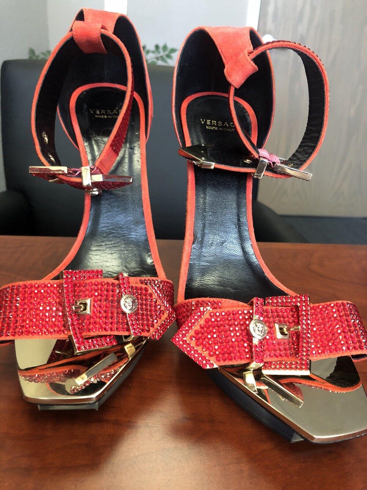 Versace Swaroski Swaroski Swaroski Crystal Platform Heels ae88d7