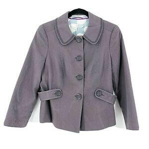 Boden-Women-039-s-Blazer-Jacket-Coat-Light-Soft-Purple-Size-8-US-or-UK-12