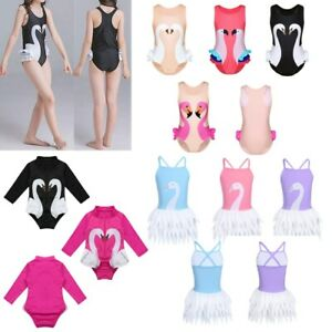 Toddler-Kids-Baby-Girls-One-Piece-Swan-Swimsuit-Swimwear-Bathing-Suit-Clothes