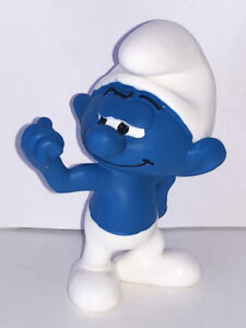 NEW-Hefty-Smurf-Figurine-20811-Plastic-Figure-Miniature-2019-SMURFS-SET