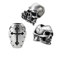 Alchemy Hair Beard Rings Beads SET of 3 janus skull coffin alchemist skull ABR1