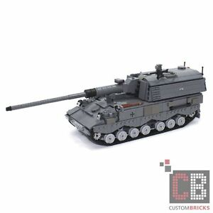 17f3c1e71cda CB Custom Bundeswehr Mbt Pzh 2000 Tank Howitzer out of Lego Bricks ...