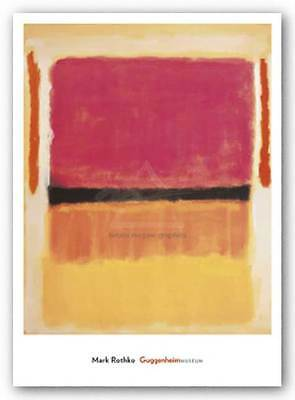 1967 by Mark Rothko Art Print Pink White Abstract Poster 24x18 Untitled