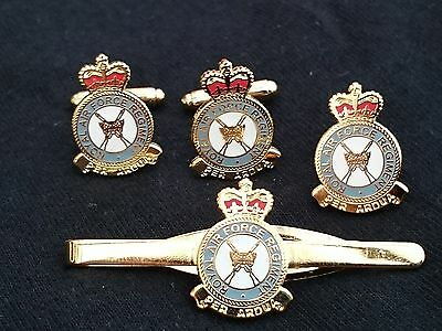 Tie Clip Lapel Badge Royal Air Force Police RAF Gift Set Military Cufflinks