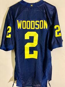 detailed look 7bd4d 2fdbf Details about Adidas Authentic NCAA Jersey Michigan Wolverines Charles  Woodson Navy sz 46
