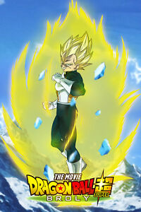 Details About Dragon Ball Super Broly Movie Vegeta Ssj Poster 12inx18in Free Shipping