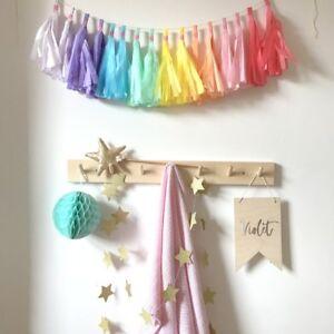 Pastel Rainbow Tassel Garland First Birthday Party Baby Shower