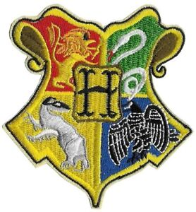 Iron On Embroidered Patch - Harry Potter Hogwarts Crest