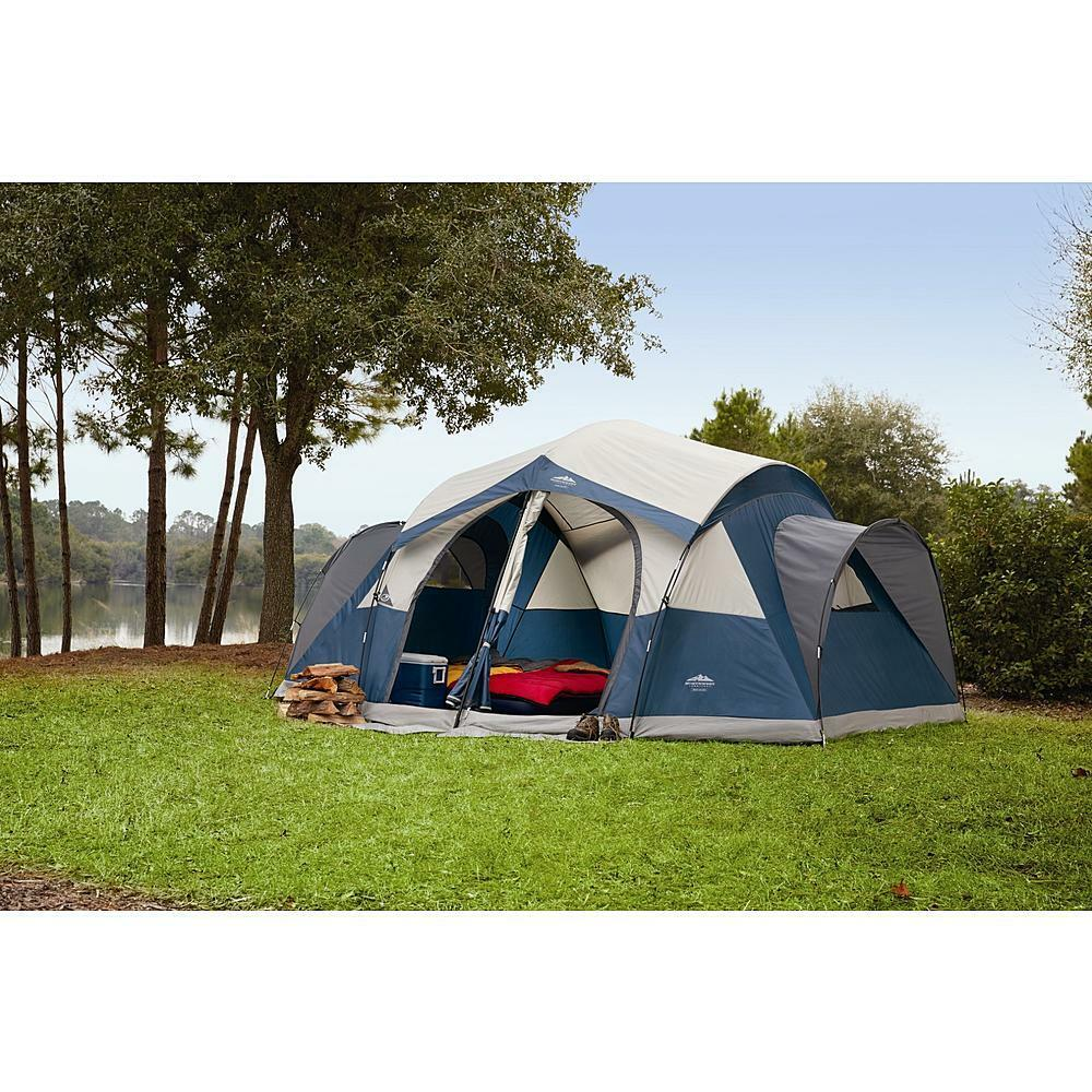 Camping bluee Instant Family Cabin 2 room Large Sealed Tent 8 person - blueE 14x14