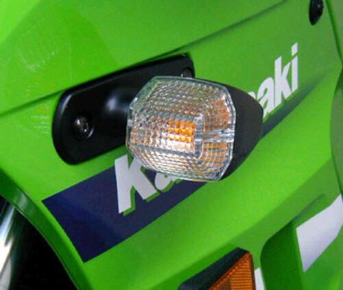 Kawasaki Ninja 250 500 ZZR 600 ZX6 ZX6R ZX9 ZX9R ZRX CLEAR TURN SIGNAL LENSES