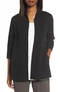 c59c149a1ed NEW Eileen Fisher Silk & Organic Cotton Interlock Knit Funnel Neck ...
