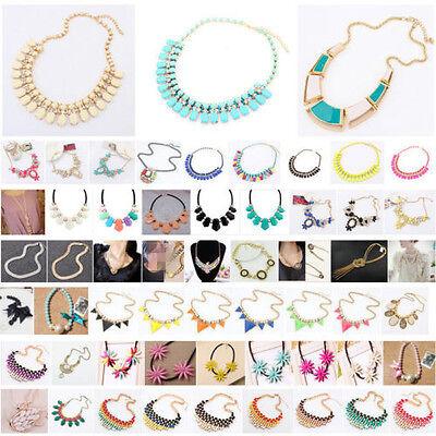 Fashion Charm Jewelry Chain Crystal Choker Chunky Statement Bib Alloy Necklace